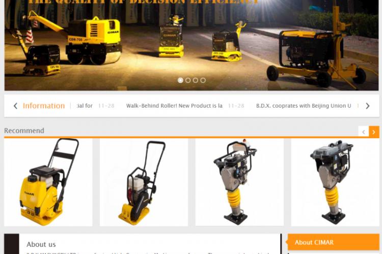 【织梦模板】橙色机械产品外贸类网站织梦dedecms模板