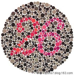 色盲色弱测试图 快来测试一下你是色盲不?