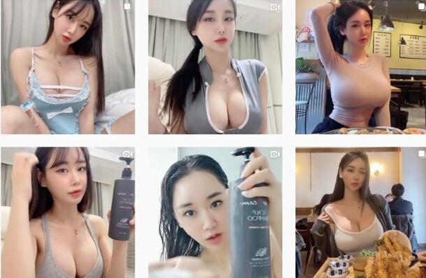 拥有158万粉丝的韩国美女模特 @Candyseul